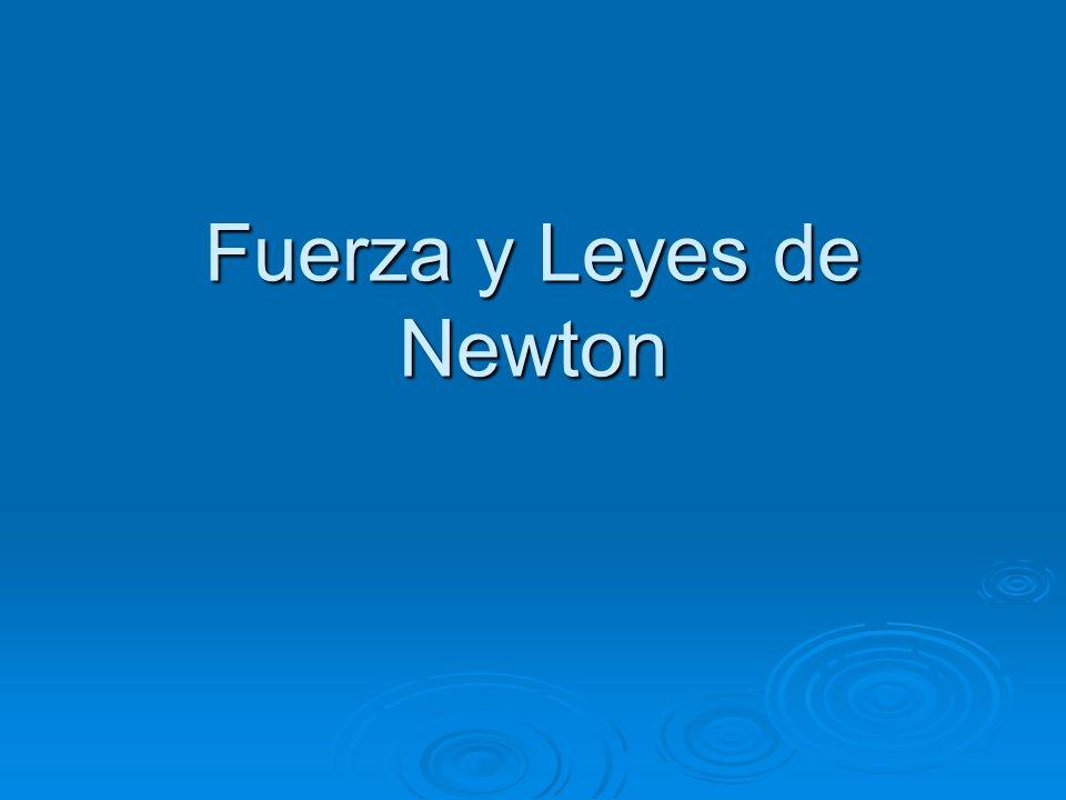 2ª Ley de Newton: Ley de la fuerza El cambio de movimiento es proporcional a la fuerza motriz aplicada y tiene la dirección de la recta según la cual la fuerza sea aplicada.