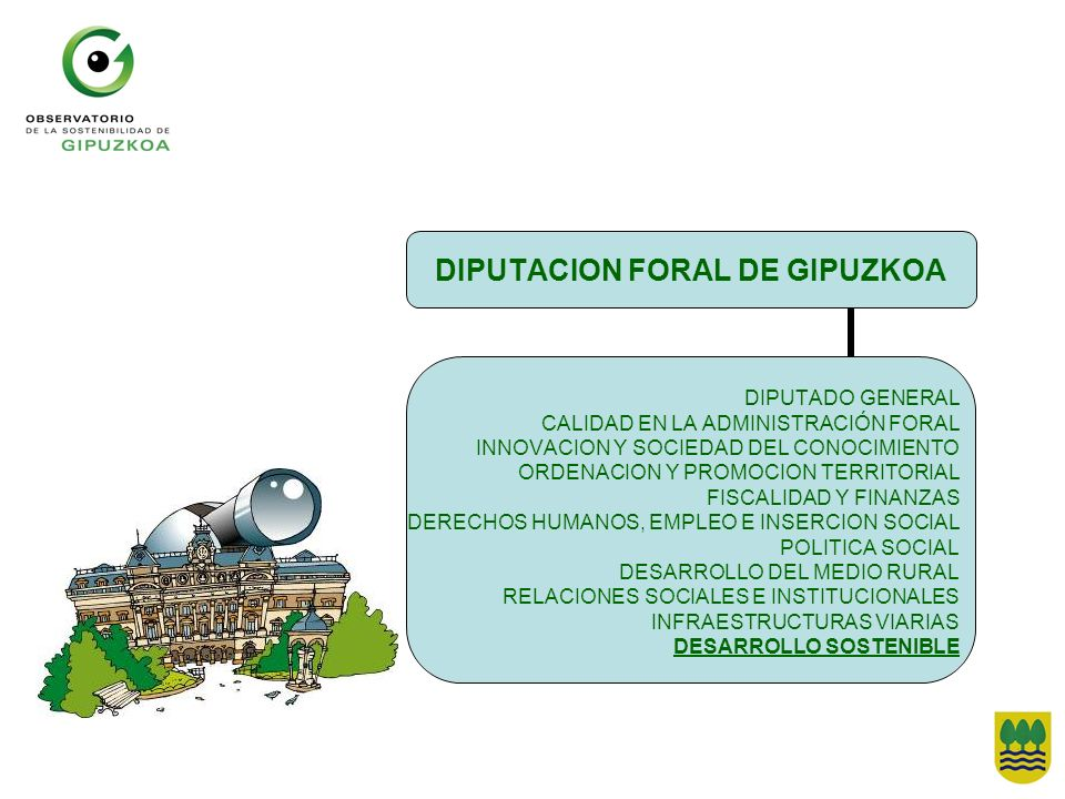 DIPUTACION FORAL DE GIPUZKOA DIPUTADO GENERAL CALIDAD EN LA ADMINISTRACIÓN FORAL INNOVACION Y SOCIEDAD DEL CONOCIMIENTO ORDENACION Y PROMOCION TERRITO