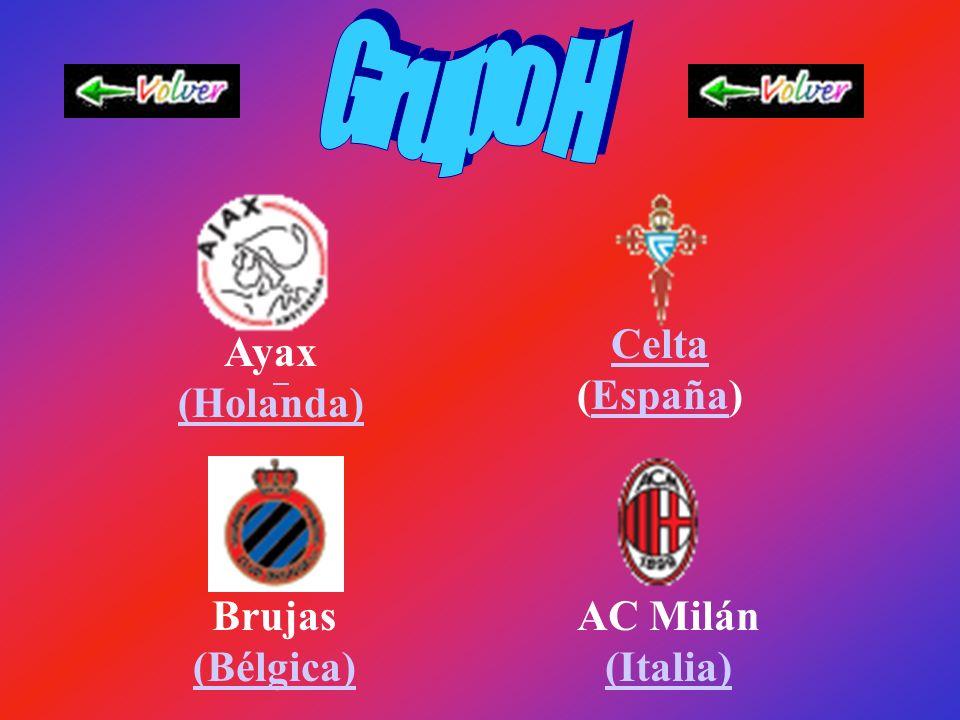 Besiktas (Turquía) Chelsea (Inglaterra) (Inglaterra) Lazio (Italia) (Italia) Esparta (Republica Checa) (Republica Checa)