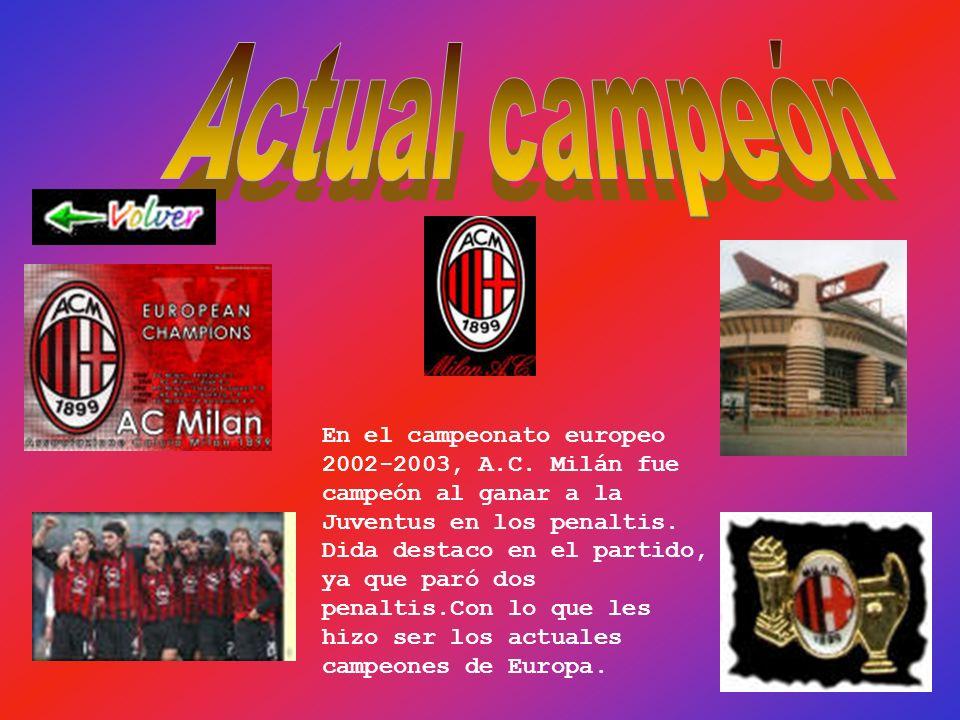 Ayax (Holanda) Celta Celta (España)España Brujas (Bélgica) (Bélgica) AC Milán (Italia) (Italia)