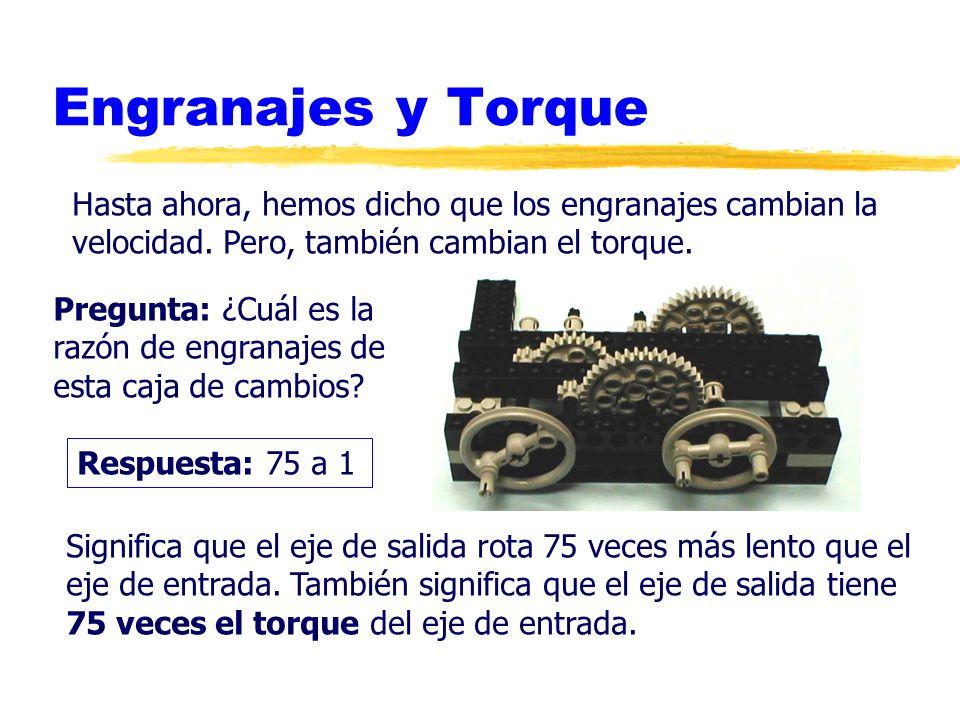 Engranajes y Torque F 1 = -F 2 r2r2 r1r1 Analyzing the fuerzas...