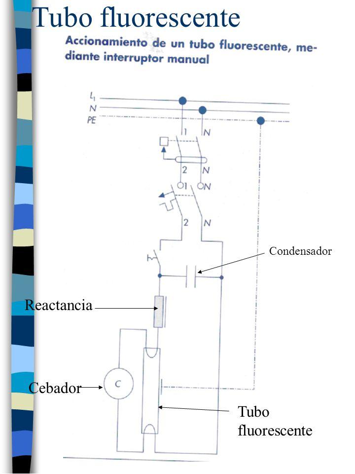 Tubo fluorescente Reactancia Cebador Condensador Tubo fluorescente