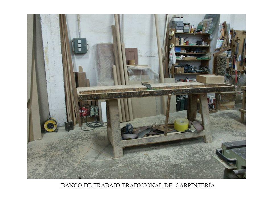 PANORÁMICA DEL TALLER DE CARPINTERÍA.