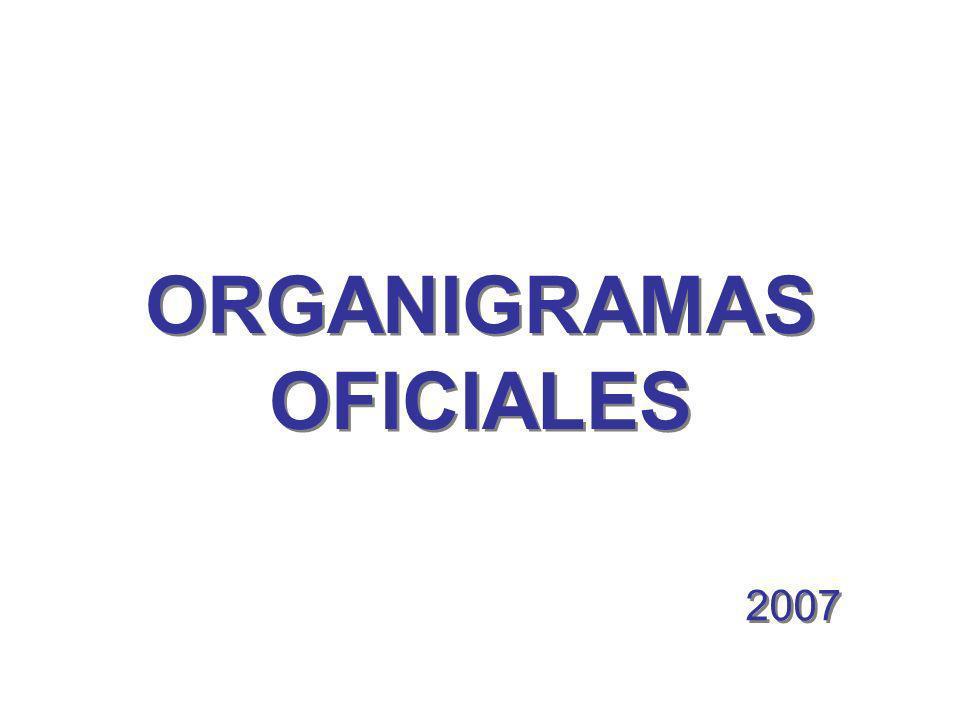 ORGANIGRAMAS OFICIALES 2007