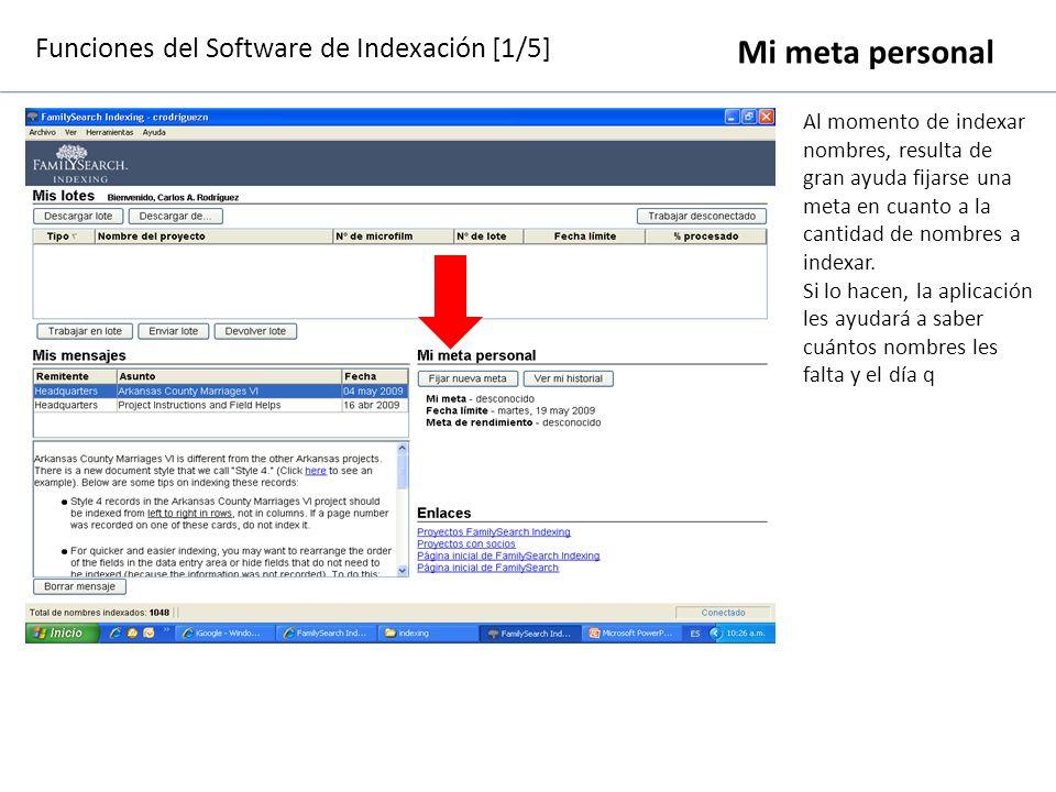 Funciones del Software de Indexación [1/5]