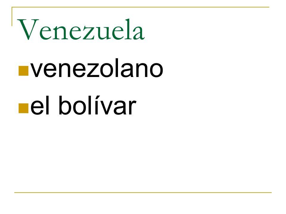 Venezuela venezolano el bolívar