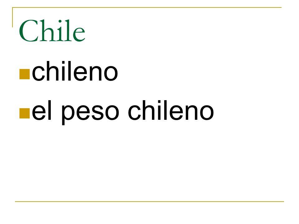 Chile chileno el peso chileno