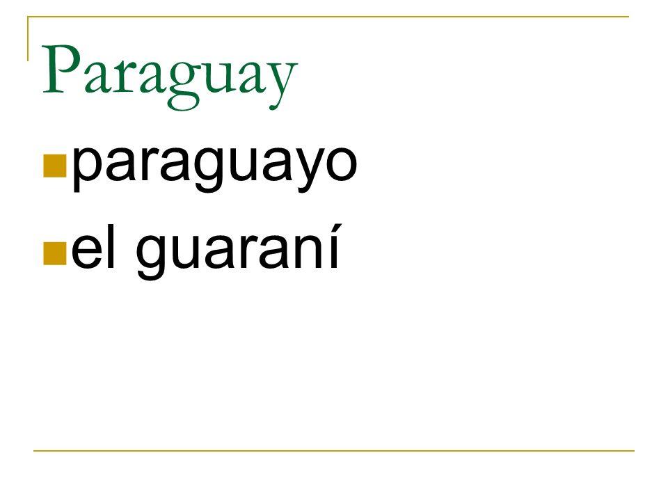 Paraguay paraguayo el guaraní