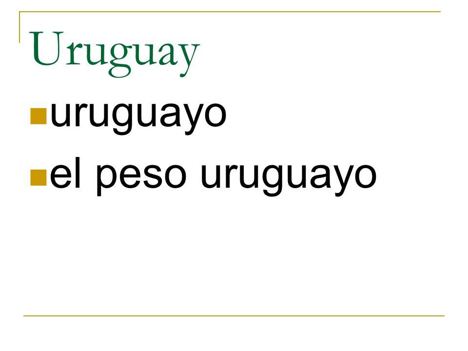 Uruguay uruguayo el peso uruguayo