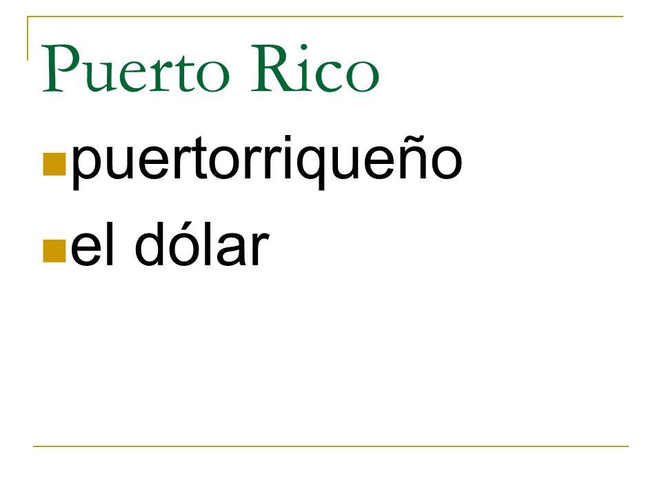Puerto Rico puertorriqueño el dólar