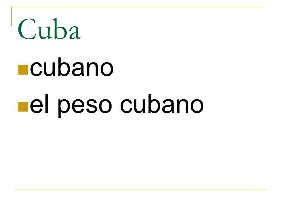 Cuba cubano el peso cubano