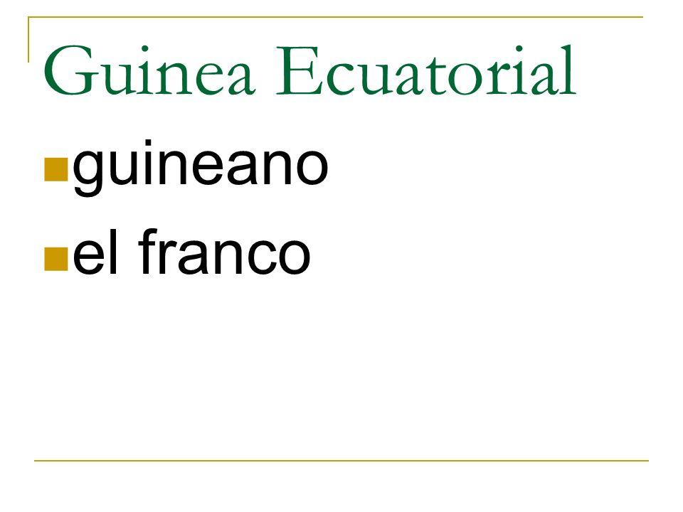 Guinea Ecuatorial guineano el franco