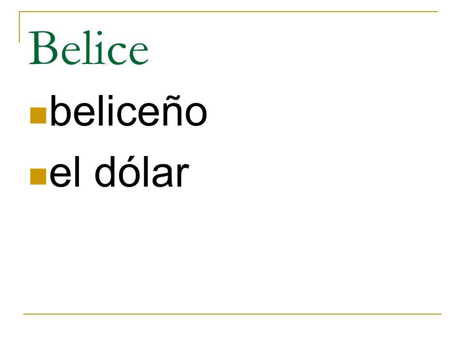 Belice beliceño el dólar