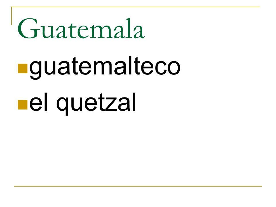 Guatemala guatemalteco el quetzal