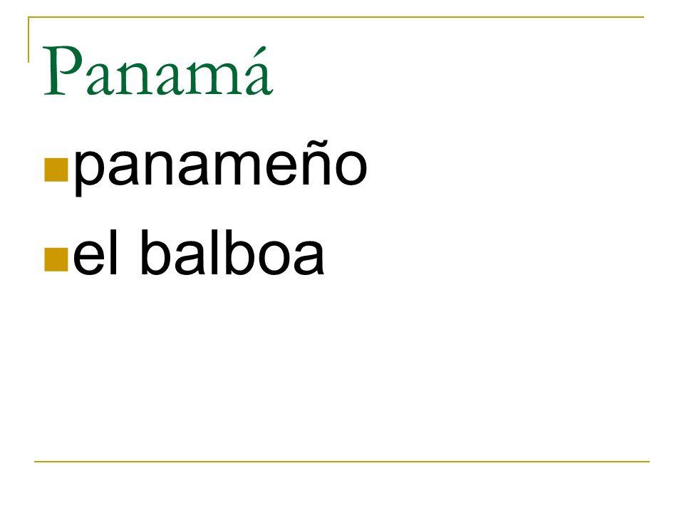 Panamá panameño el balboa