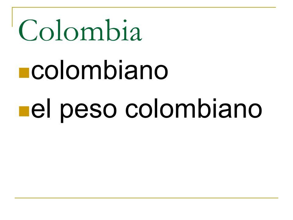 Colombia colombiano el peso colombiano