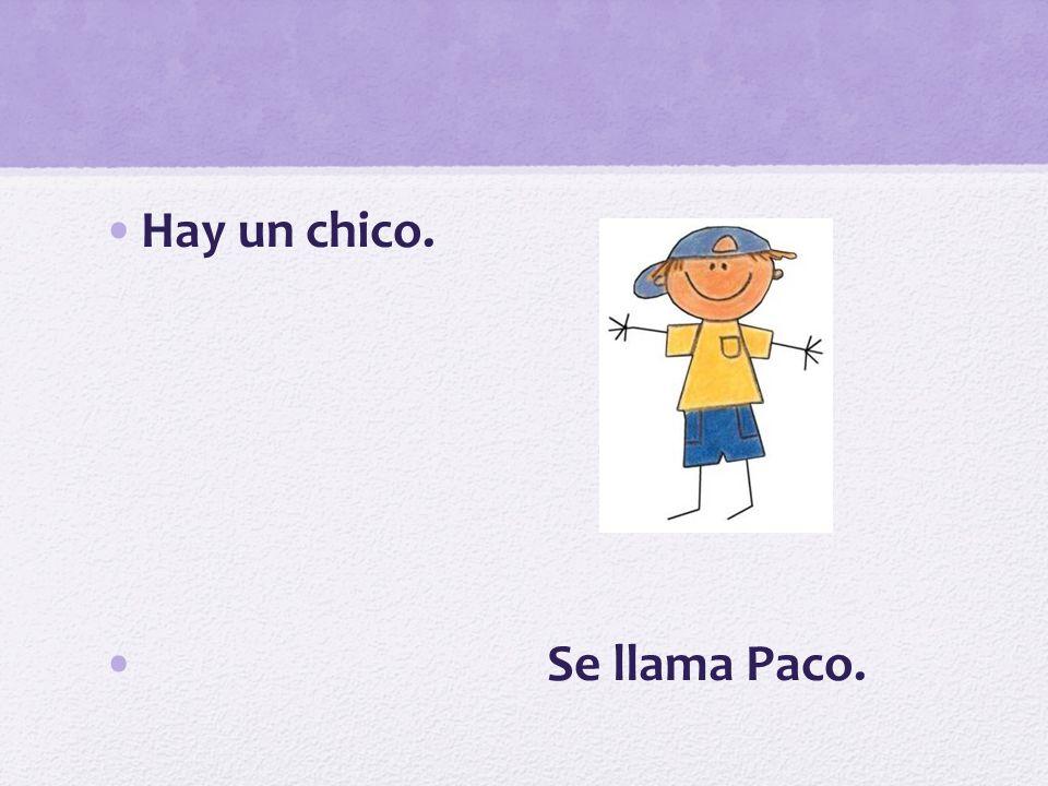 Hay un chico. Se llama Paco.