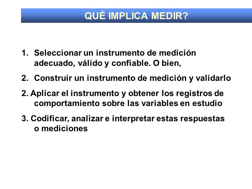 CONFIABILIDAD: exactitud y precisión del instrumento de medición.