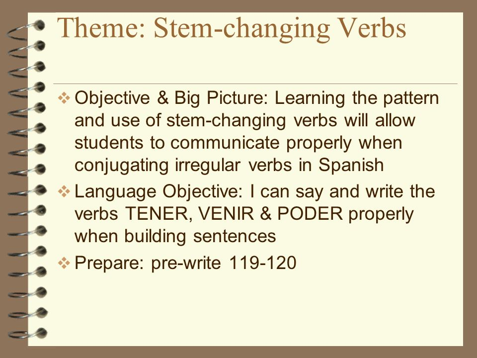 Verb stems and endings What is the stem of the verb Escribir.
