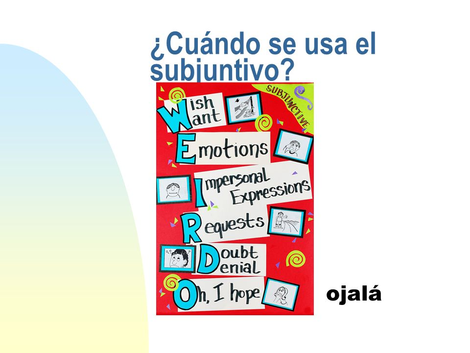 6 How do you form the subjunctive.