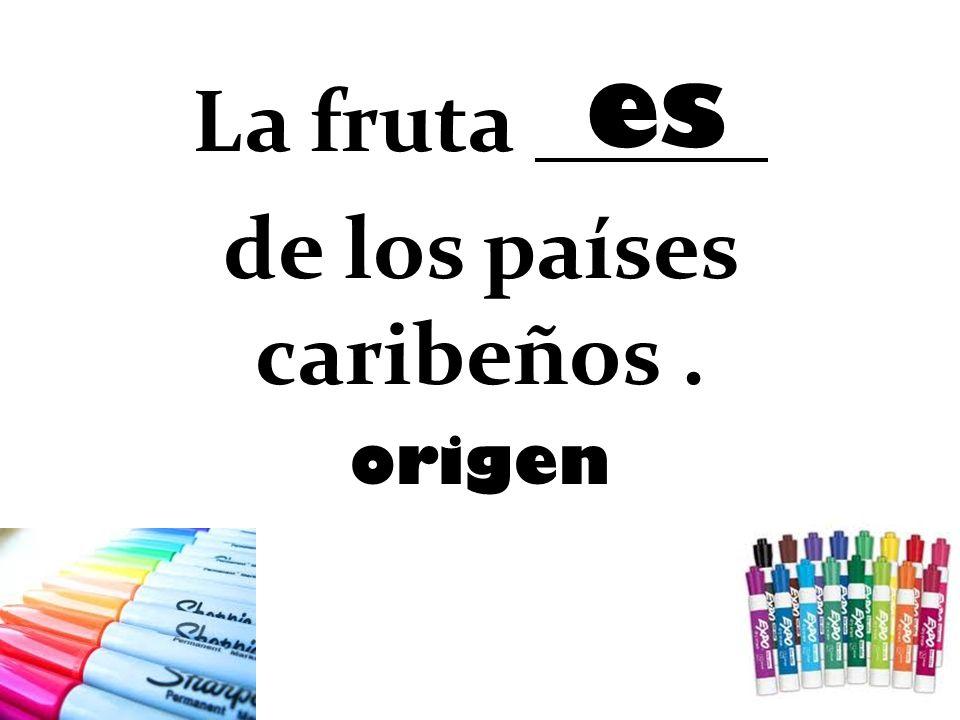 La fruta de los países caribeños. origen es