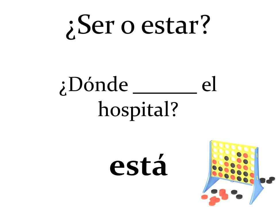 ¿Dónde el hospital? está ¿Ser o estar?