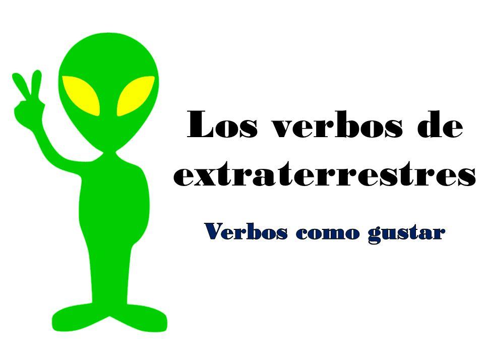 Los verbos de extraterrestres