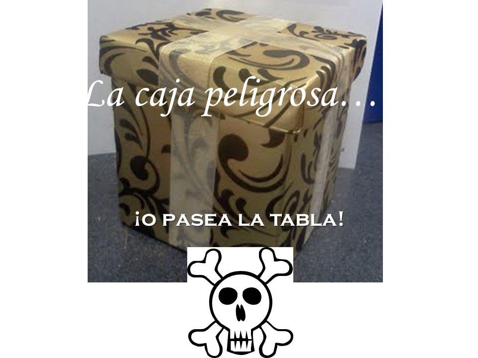 La caja peligrosa….. ¡o pasea la tabla!