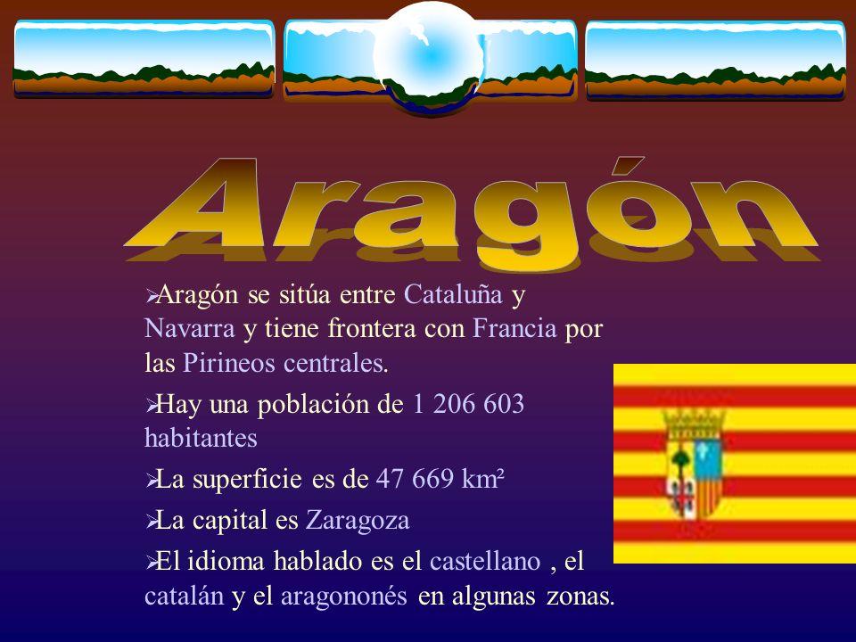 Aragón se sitúa entre Cataluña y Navarra y tiene frontera con Francia por las Pirineos centrales.