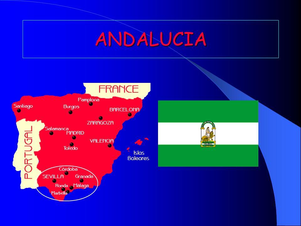 Andalucía está en el sur de España.Se compone de 7 250 150 habitantes.