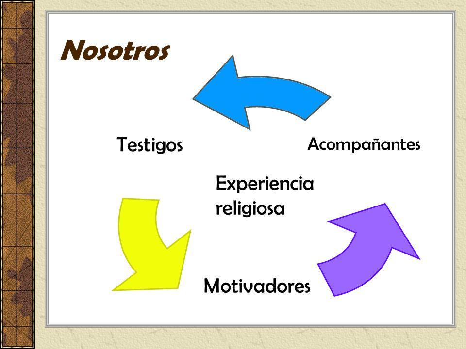 Nosotros Testigos Motivadores Acompañantes Experiencia religiosa