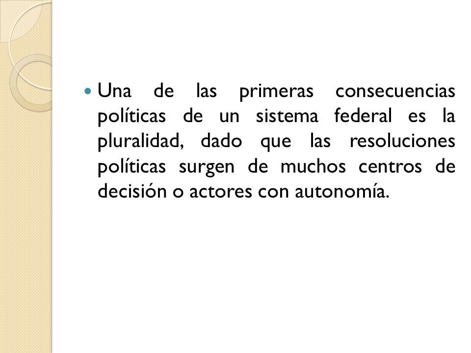 Se trata de un federalismo jerárquico, muy parecido a un sistema centralista o unitario.