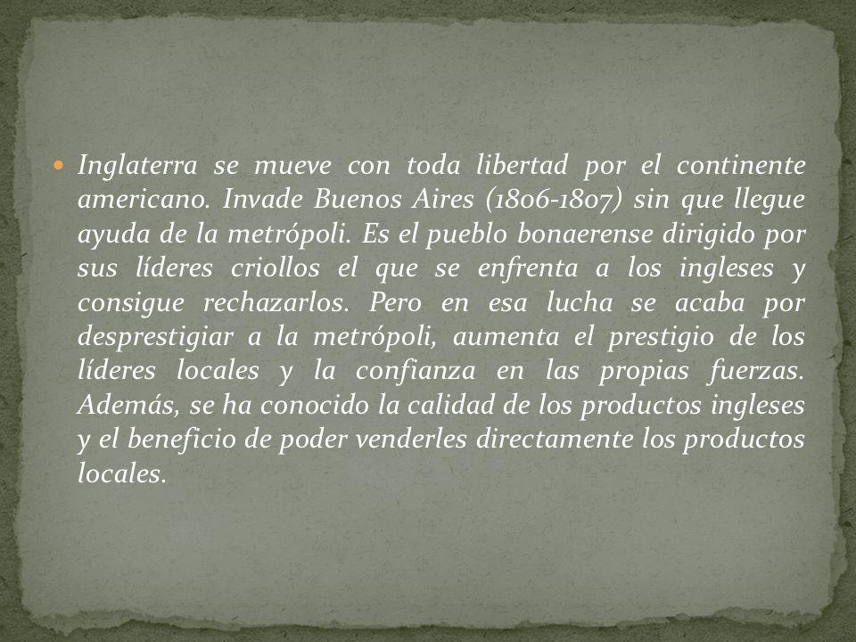 Pero España había quedado muy debilitada por las guerras europeas en las que había malgastado el oro y la plata americanos. A comienzos del siglo XIX