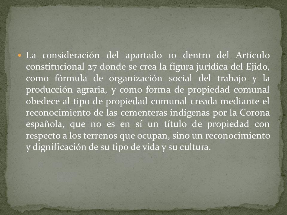El movimiento zapatista es la respuesta inminente a tal despojo durante el periodo de la Reforma en el Siglo XIX y es la fuente de la pobreza y la inc