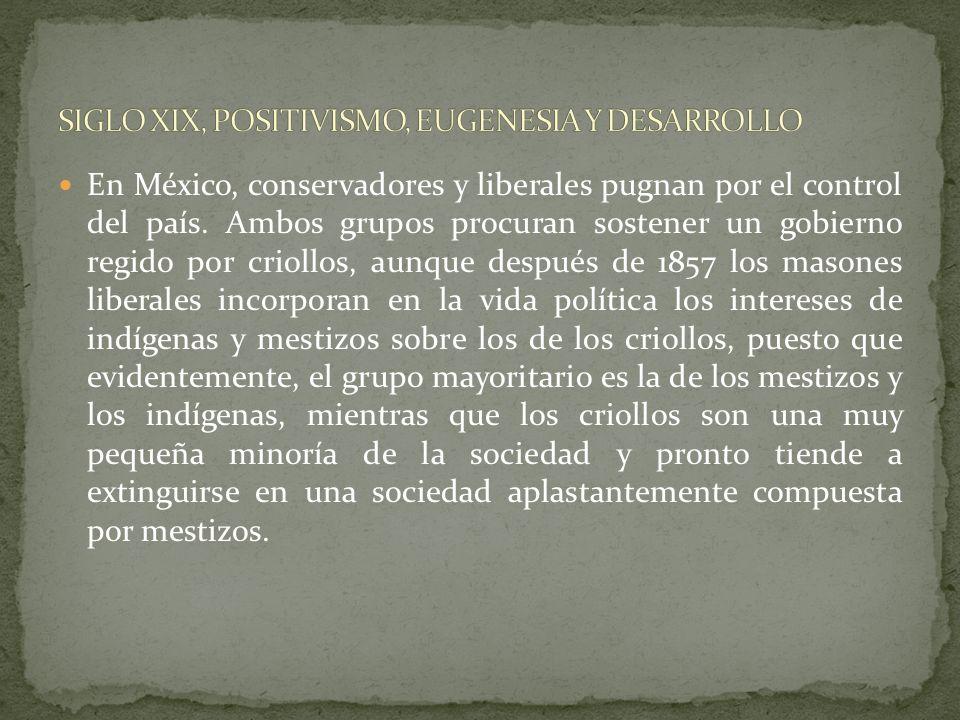 Los criollos y clérigos a inicios del periodo independiente, no desean perder los privilegios tenidos en el periodo virreinal, como a su vez, los mest