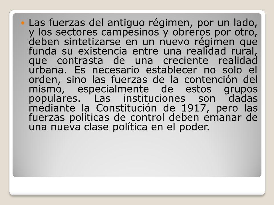 Dentro de los regímenes dictatoriales post revolucionarios se deben destacar aquellos propios del presidencialismo.