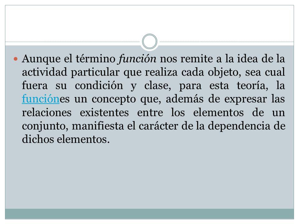 Pero todavía queda pendiente la pregunta: ¿Qué es el funcionalismo.