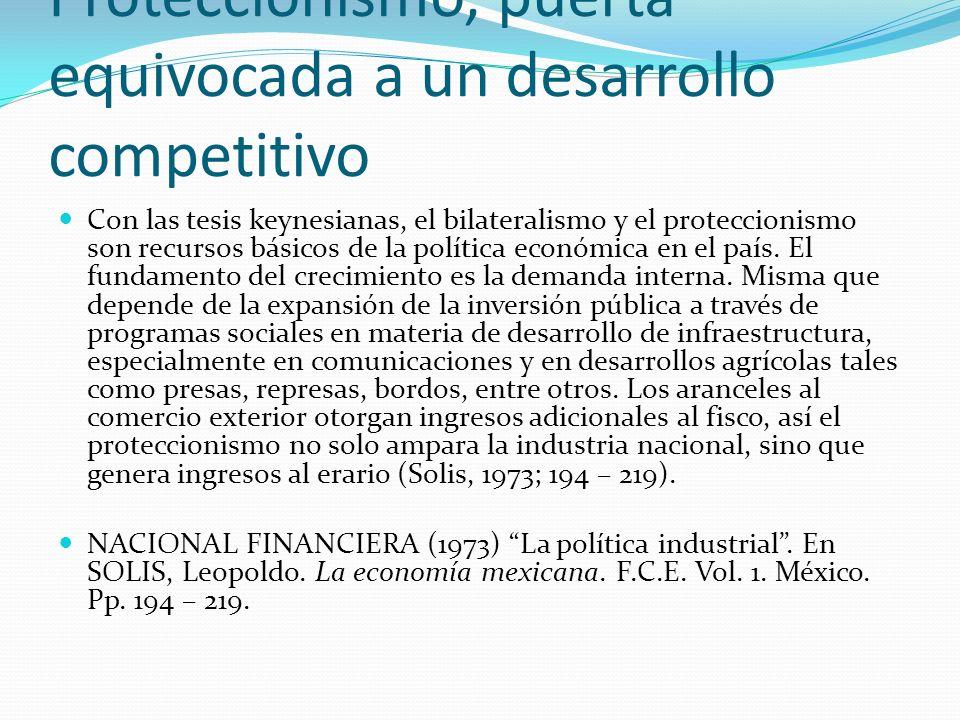 Proteccionismo, puerta equivocada a un desarrollo competitivo Con las tesis keynesianas, el bilateralismo y el proteccionismo son recursos básicos de
