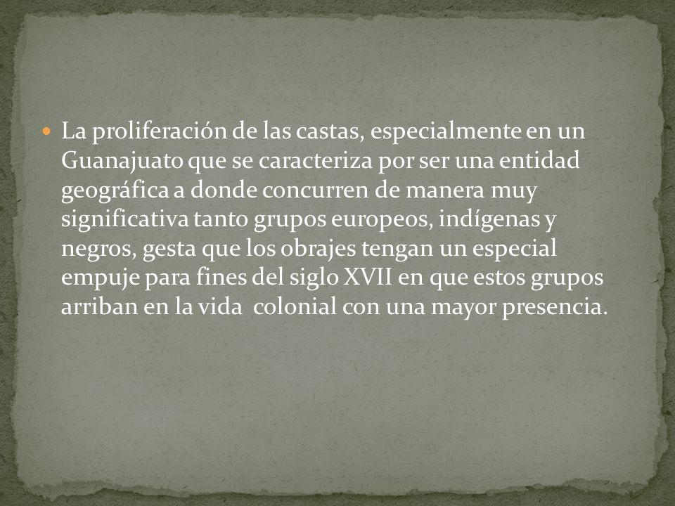 La proliferación de las castas, especialmente en un Guanajuato que se caracteriza por ser una entidad geográfica a donde concurren de manera muy signi