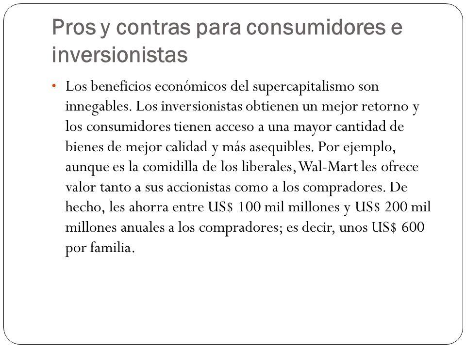 Pros y contras para consumidores e inversionistas Los beneficios económicos del supercapitalismo son innegables.