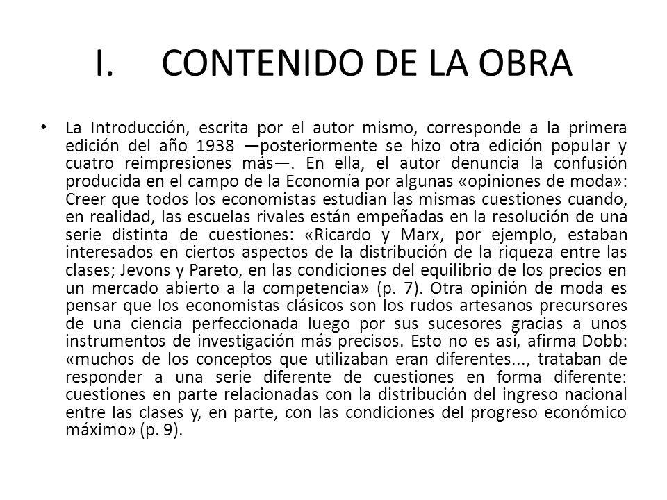 I. CONTENIDO DE LA OBRA La Introducción, escrita por el autor mismo, corresponde a la primera edición del año 1938 posteriormente se hizo otra edición