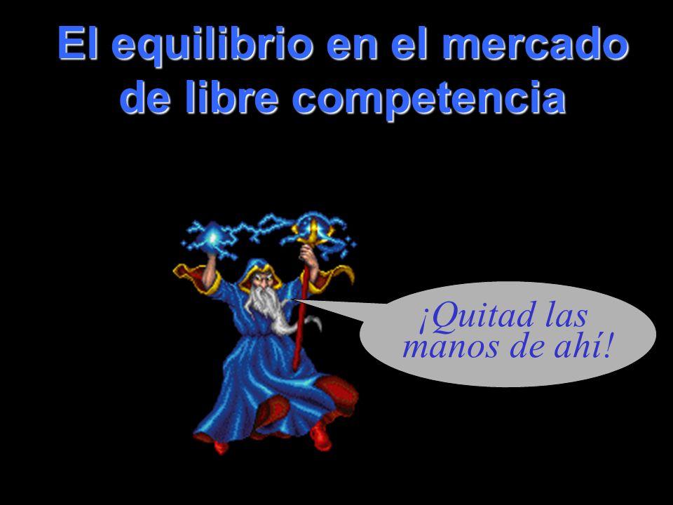 coll@uma.es El equilibrio en el mercado de libre competencia ¡Quitad las manos de ahí!