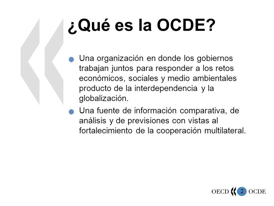 2 ¿Qué es la OCDE? Una organización en donde los gobiernos trabajan juntos para responder a los retos económicos, sociales y medio ambientales product