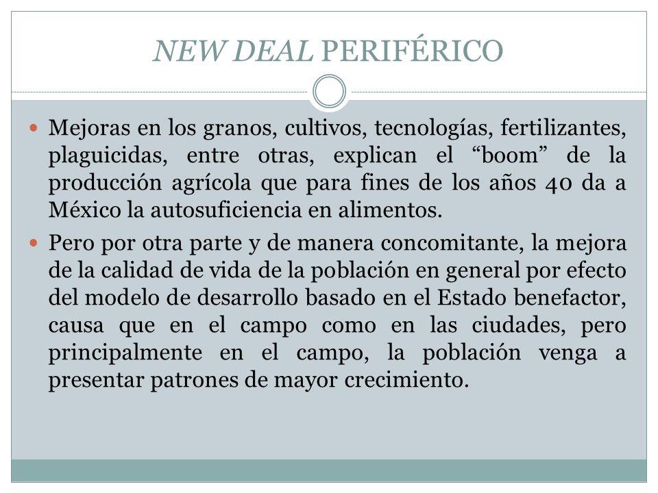 NEW DEAL PERIFÉRICO Mejoras en los granos, cultivos, tecnologías, fertilizantes, plaguicidas, entre otras, explican el boom de la producción agrícola