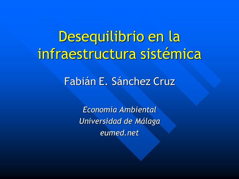 Desequilibrio en la infraestructura sistémica Fabián E. Sánchez Cruz Economía Ambiental Universidad de Málaga eumed.net