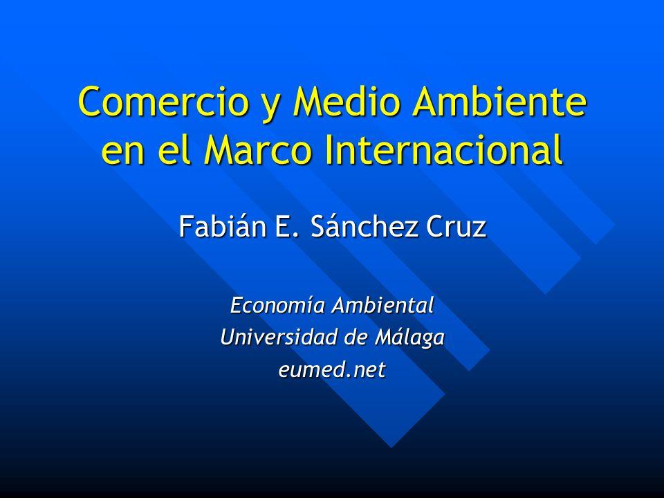 Comercio y Medio Ambiente en el Marco Internacional Fabián E. Sánchez Cruz Economía Ambiental Universidad de Málaga eumed.net