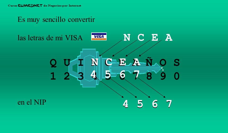Hay una clave sencilla, simétrica y pnemotécnica que convierte los números en letras y viceversa: Y la clave es... Q U I N C E A Ñ O S 1 2 3 4 5 6 7 8
