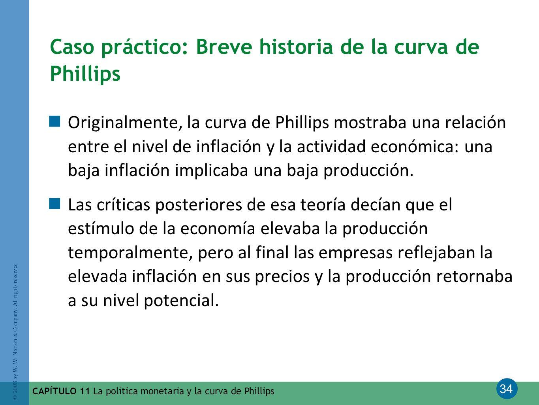 34 © 2008 by W. W. Norton & Company. All rights reserved CAPÍTULO 11 La política monetaria y la curva de Phillips Caso práctico: Breve historia de la