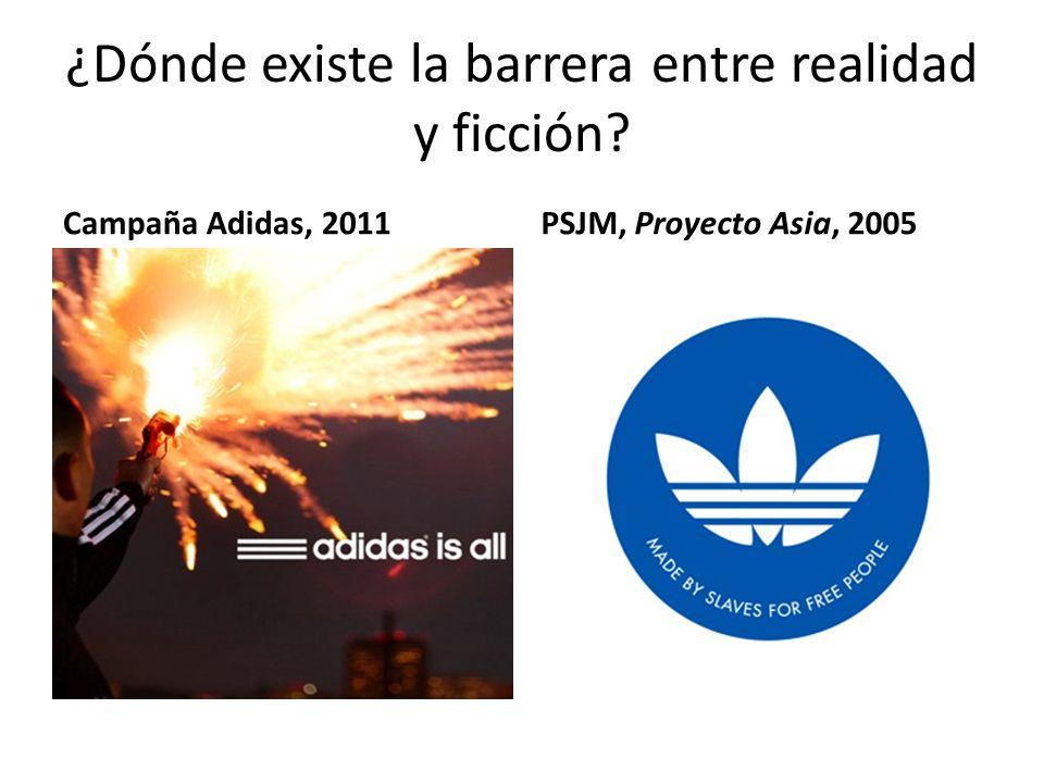 ¿Dónde existe la barrera entre realidad y ficción Campaña Adidas, 2011PSJM, Proyecto Asia, 2005