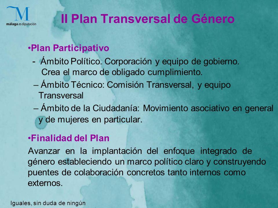 II Plan Transversal de Género Plan Participativo - Ámbito Político.
